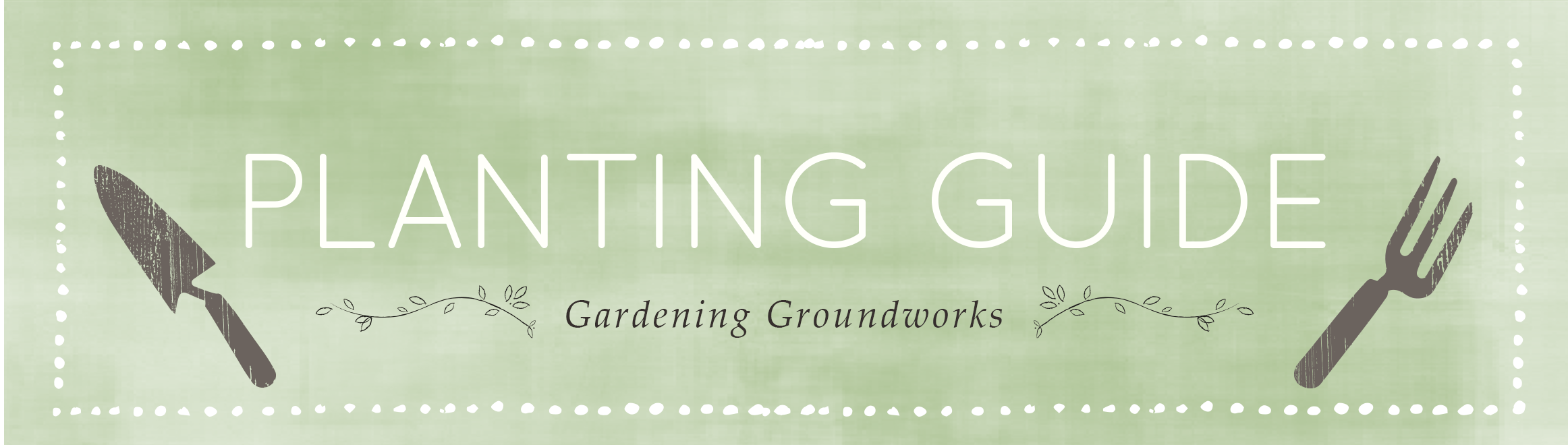 Illustration of the words Planting Guide