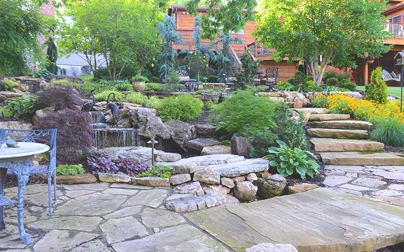 Photo of residential landscape project completed by Frisella Nursery