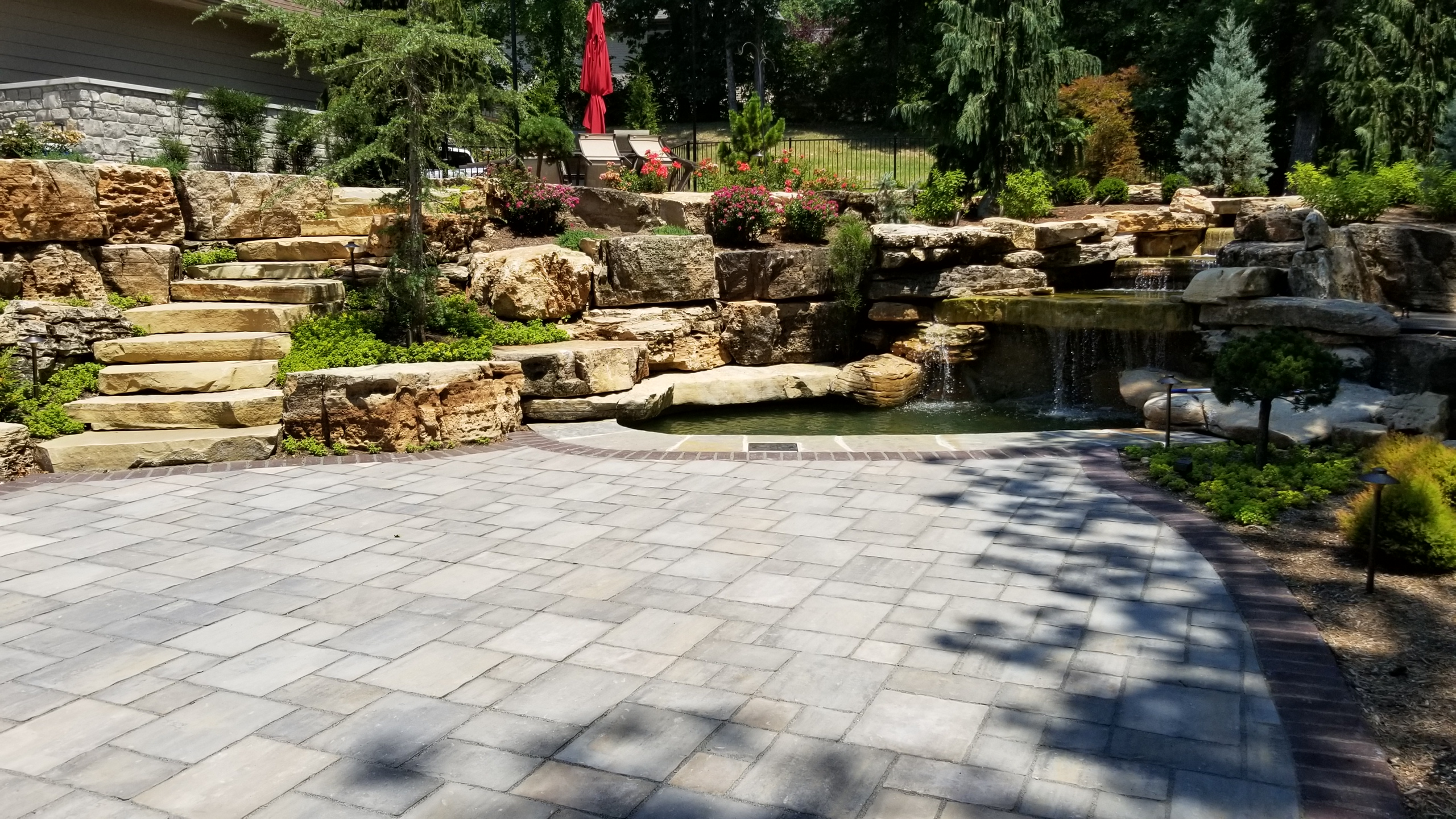 Chesterfield, MO Hillside Landscape Design1