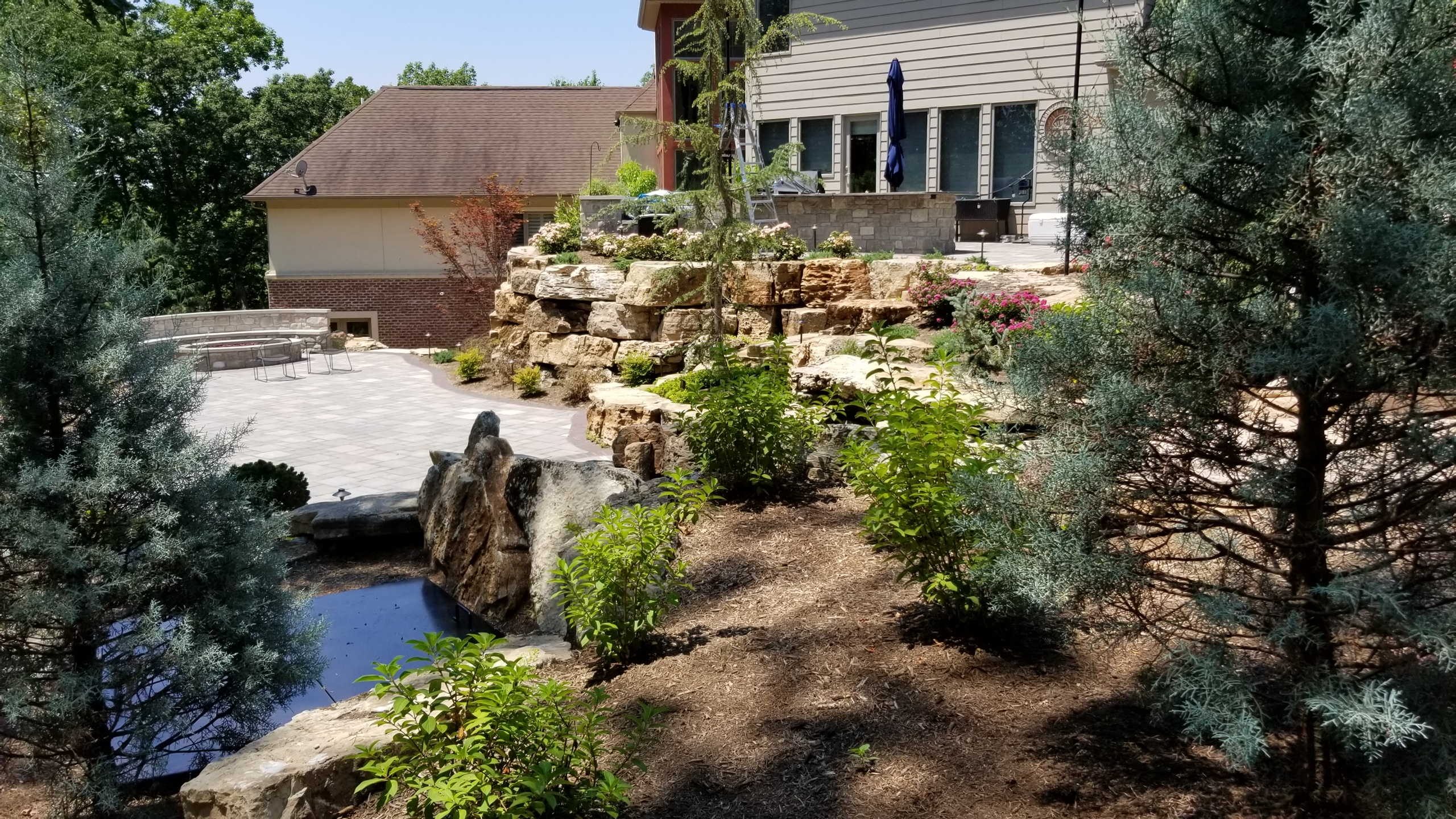 Chesterfield, MO Hillside Landscape Design2