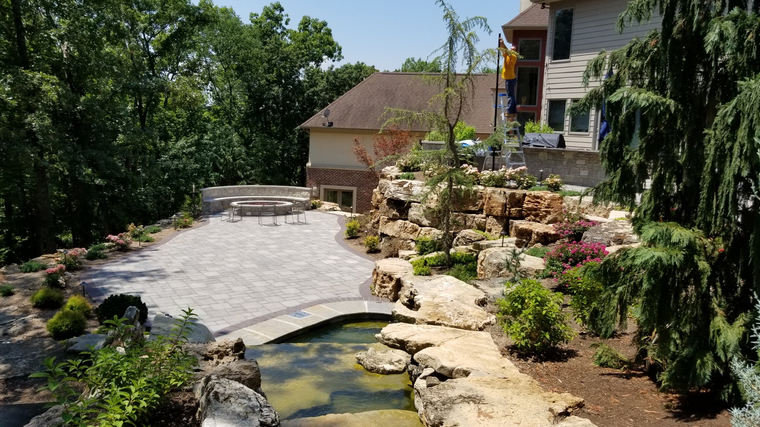 Chesterfield, MO Hillside Landscape Design4