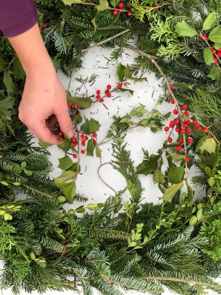 Holiday Wreath Making Workshop Frisella Nursery