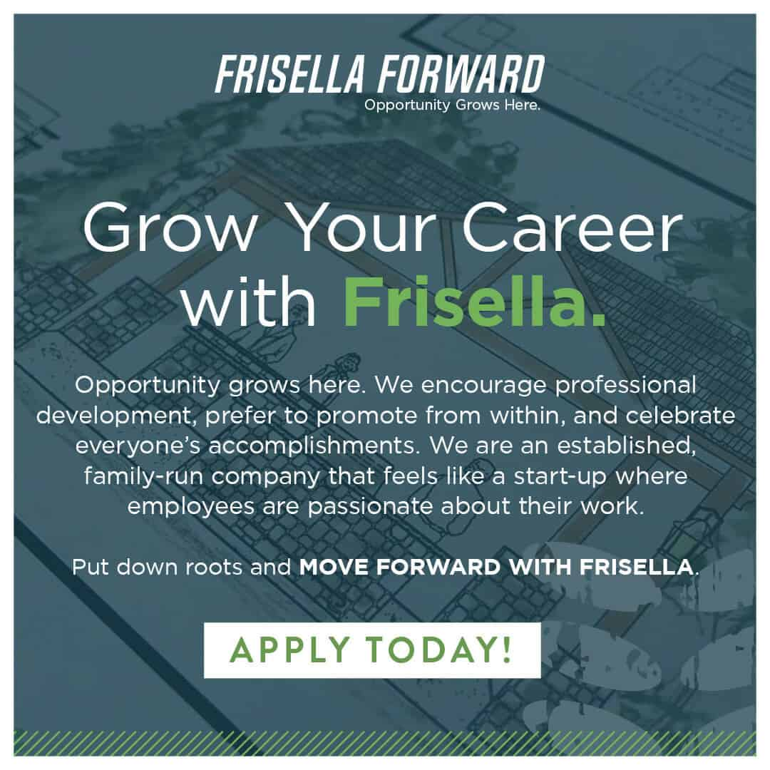 Frisella Forward campaign to redirect visitors to our Indeed.com page